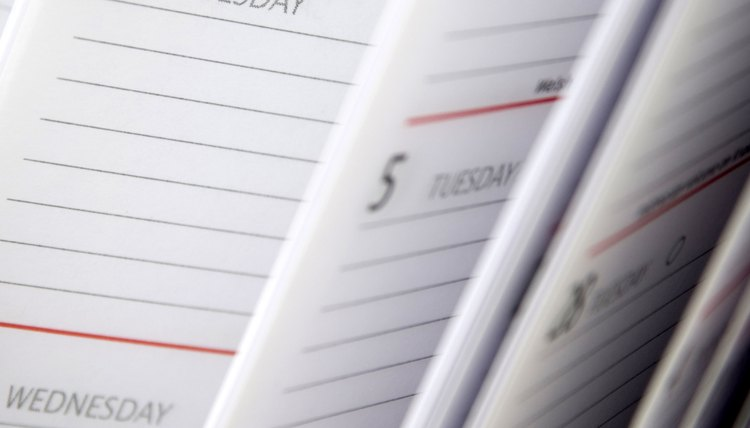 Create a daily schedule for your lesson plan.