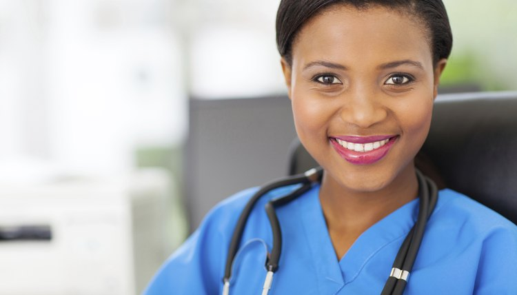 female african medical nurse with stethoscope