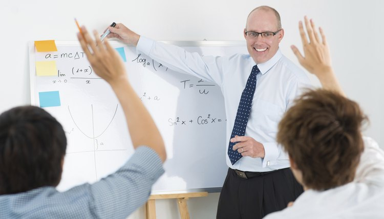 Professor teaching students in university