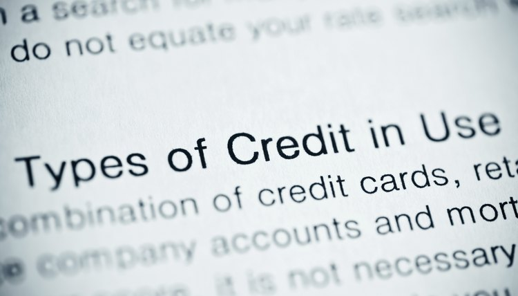 Types of credit in use