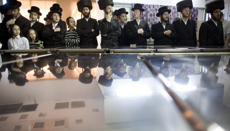 Ultra Orthodox Jews observe a modest but strict dress code.