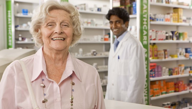 Woman with pharmacist