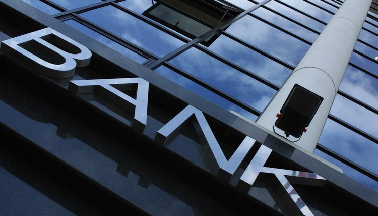 Bank sign on building