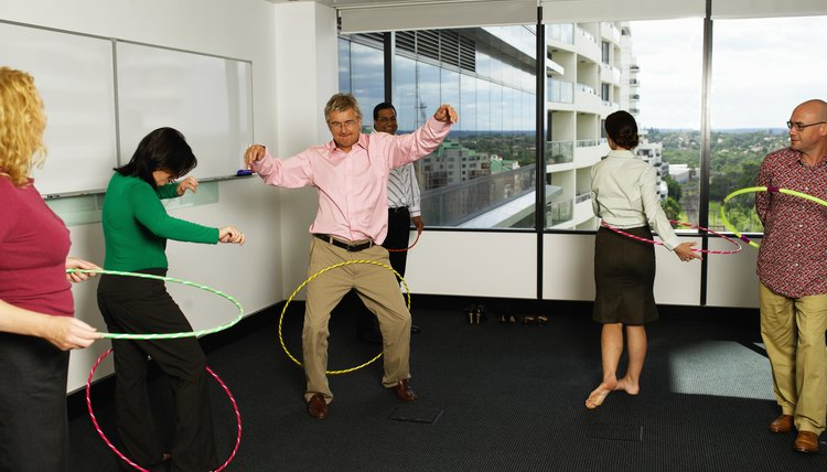 Team-building activities help improve morale and productivity.