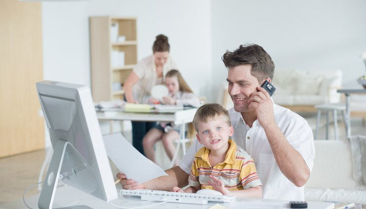 Online coursework allows working parents to continue their education at home.