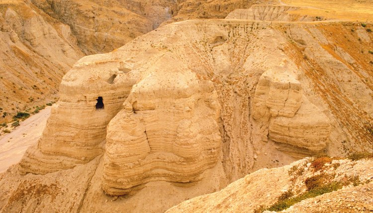 One of the caves where the Dead Sea Scrolls were found