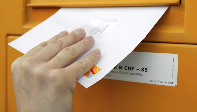 Hand Mailing a Letter