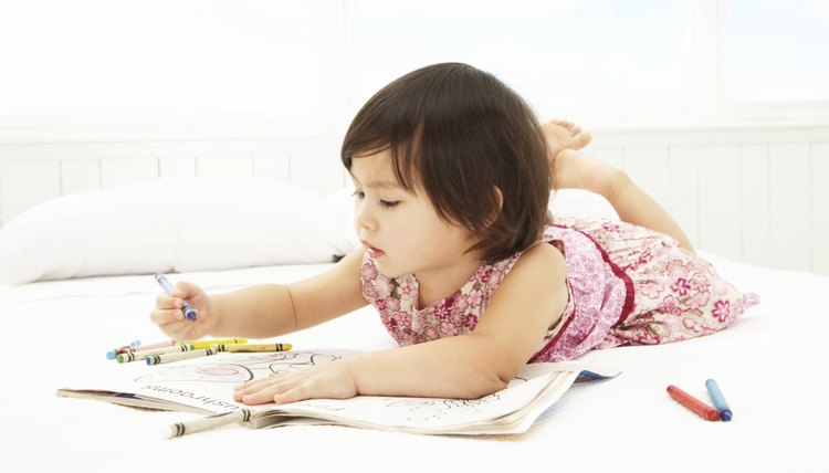 Coloring requires fine motor skills with the fingers and hands.