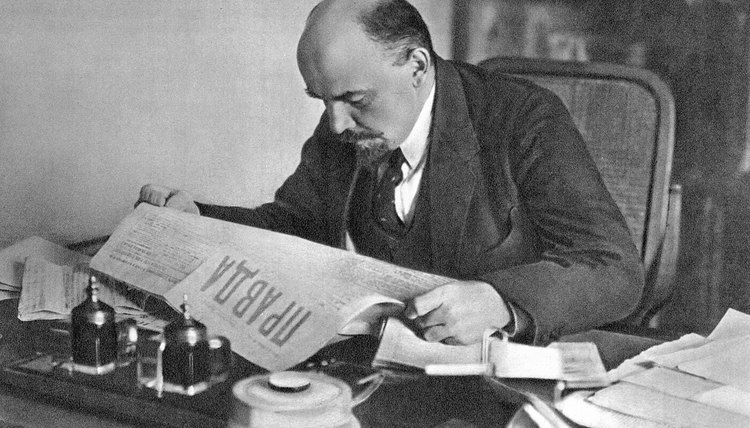 Vladimir Lenin, depicted here, believed that democracy privileged the propertied classes at the expense of the workers.