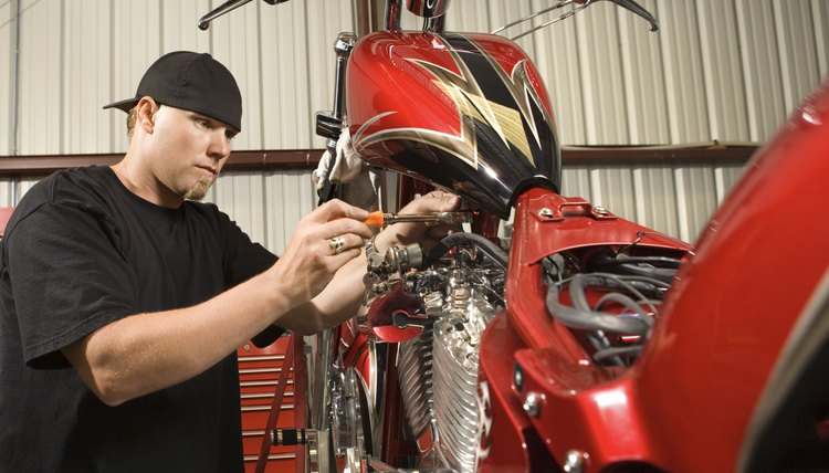 There are many tech schools that train motorcycle and small engine repair.