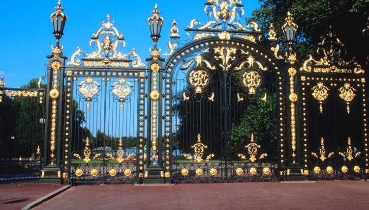 An ornate driveway gate is nice, but a simple model is just as effective.