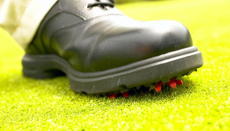 Caring for your golf shoes includes polishing them regularly.