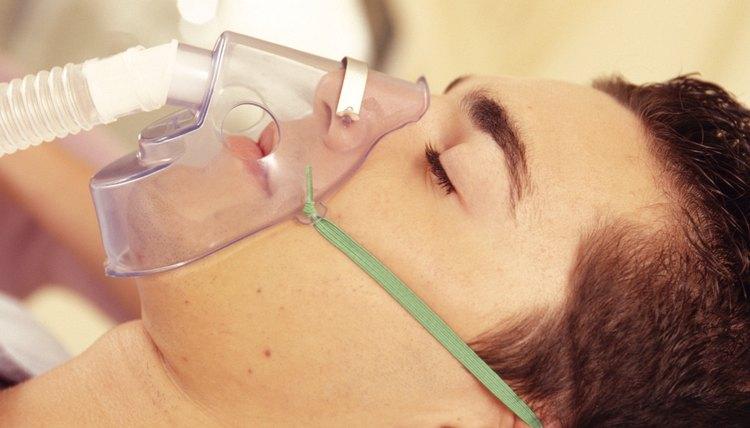 Patient on respirator