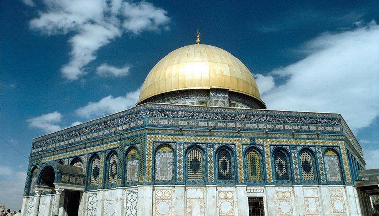 Christian artisans were hired to create mosaics for the Dome of Rock, and included some Christian motifs.