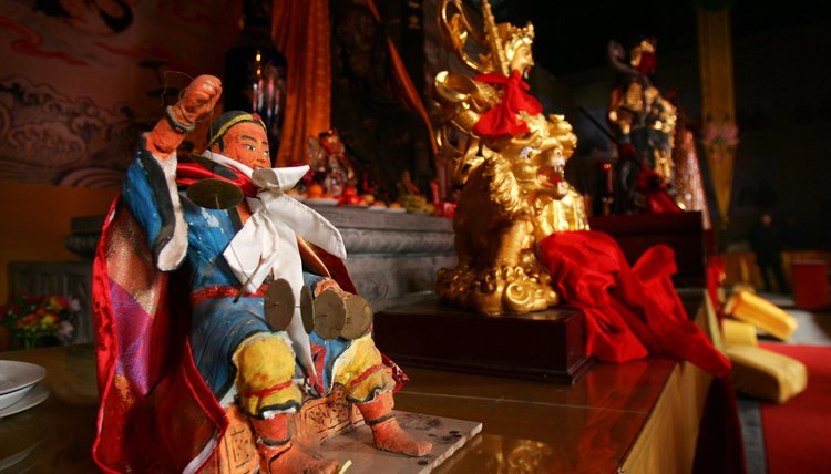 Statues in Chinese temples and shrines represent the many Taoist deities.