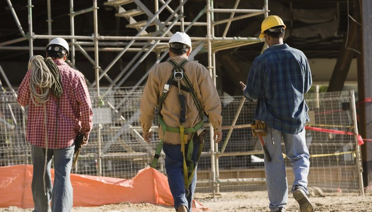 Construction workers organize in building trades