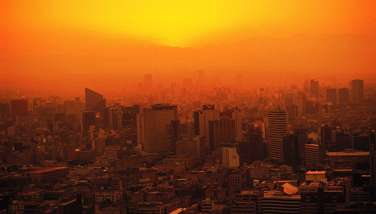 Cities are often polluted.