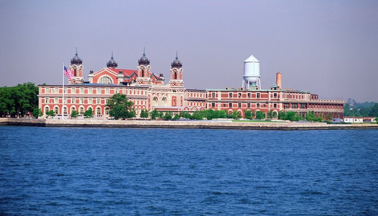 Millions of European Immigrants came to America through Ellis Island in New York City.