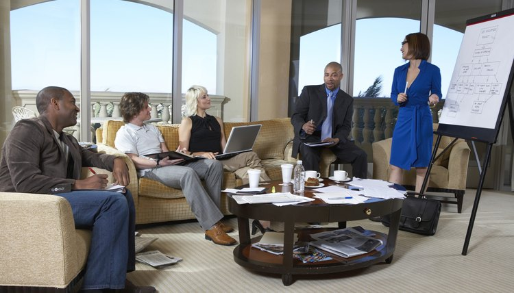 Slip into the meeting quietly if you arrive after everyone else is seated.