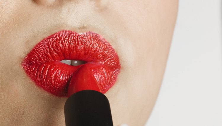 Pair red lipstick with a light, neutral eye for the daytime.