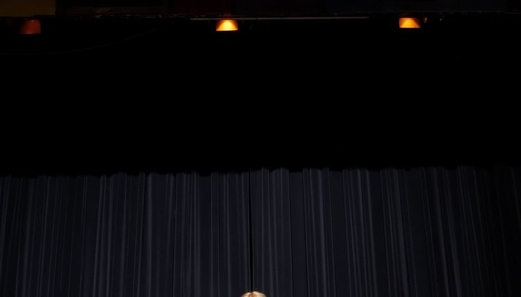 Girl giving a speech.