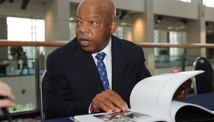 As a student activist, Congressman John Lewis was beaten during the Selma voting rights march.