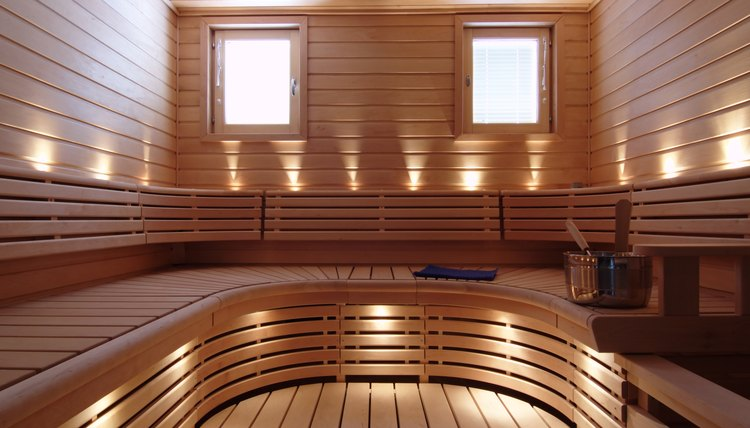Finnish sauna room