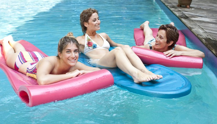 Jane, Mary and Sherry floated on rafts and talked. Compound subject with compound predicate.