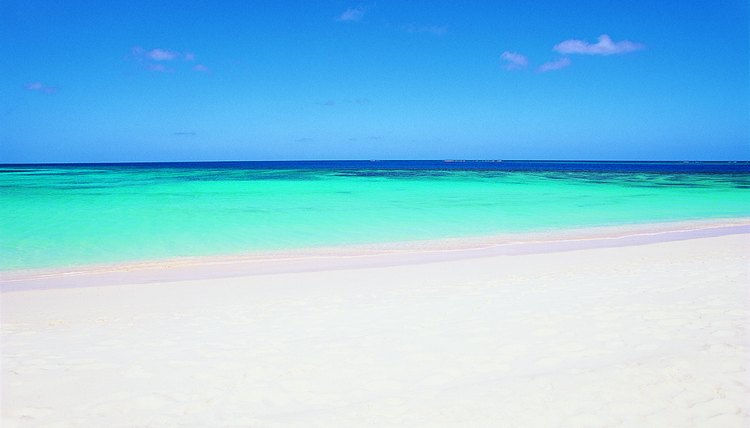 Caribbean beaches are known for their white sand.