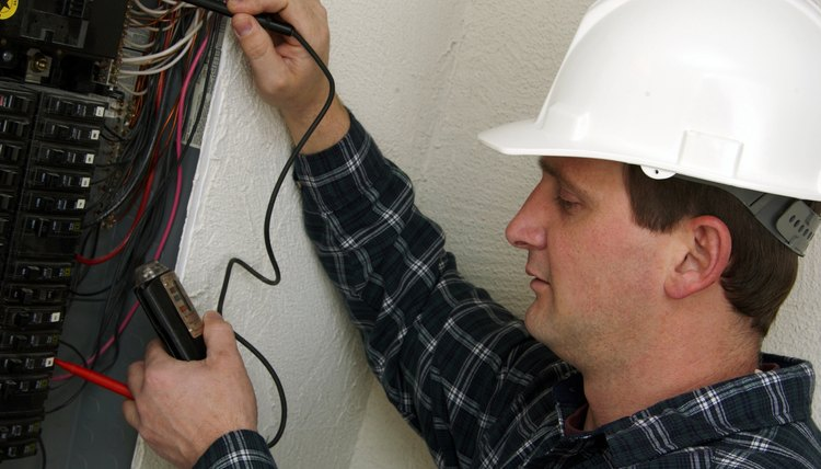 Electrician in action