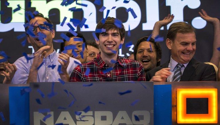 Tumblr founder David Karp celebrates the purchase of Tumblr by Yahoo.