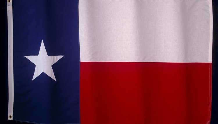The Texas Flag Code specifies how to hang the state flag.