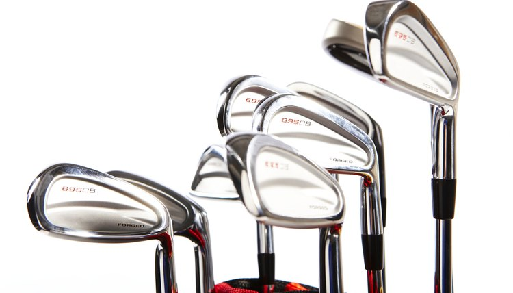A new set of irons typically consists eight clubs.
