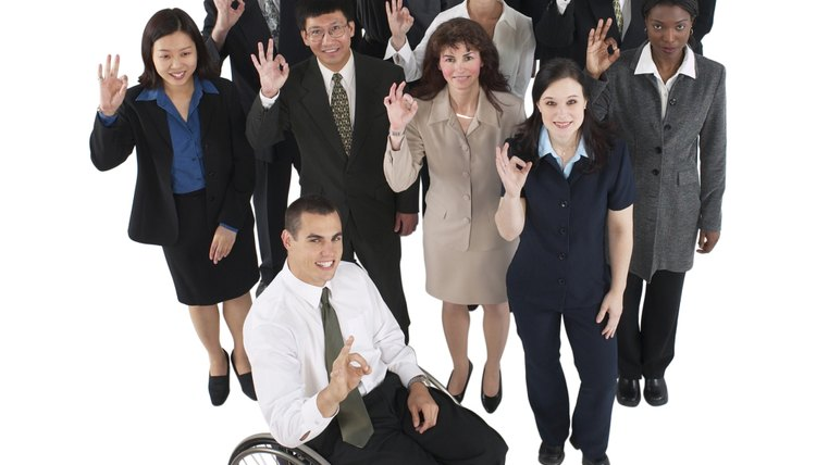 Group Of Diverse Businesspeople Giving Okay Sign