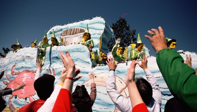 Mardi Gras floats borrow traditions from medieval European celebrations.
