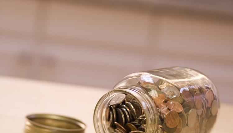 Jar of loose change.