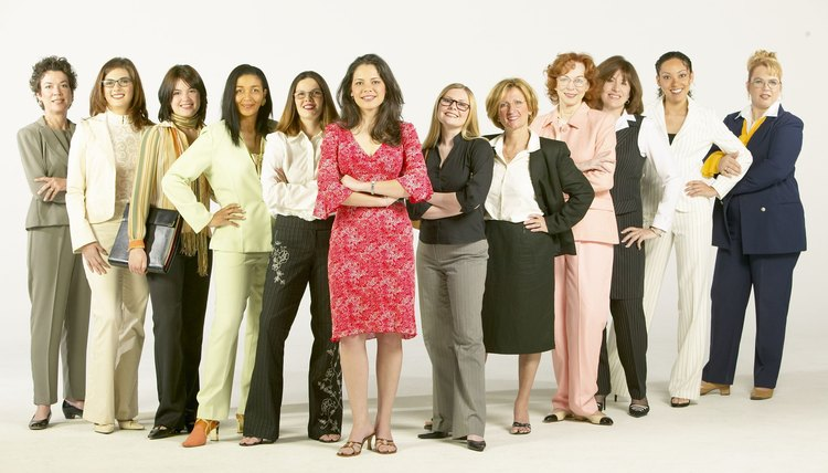 Portrait of confident businesswomen