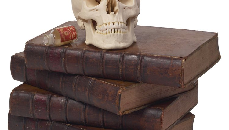 Decay is one motif, or recurring element, in Hamlet. It is exemplified by a skull.