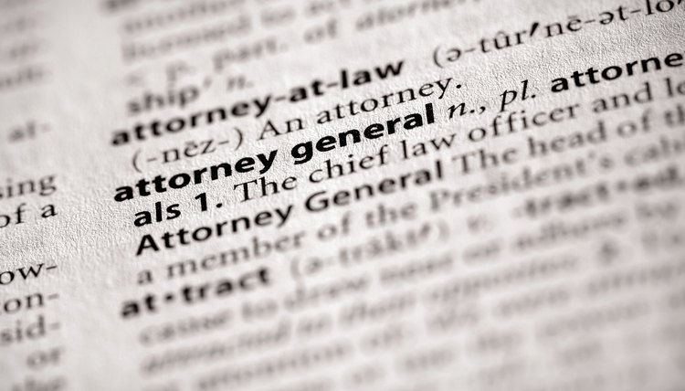 dictionary series politics attorney general