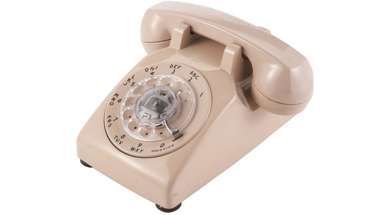 Rotary telephones and pulse dialing dominated early land-line service.