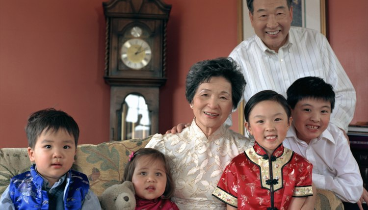 Large Chinese family