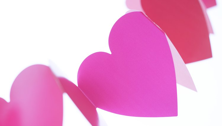 Among other crafts, kids can make Valentine hearts in February.