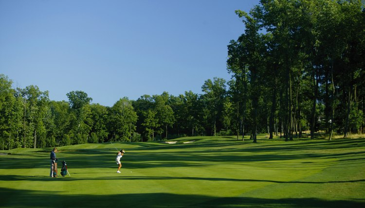 Golf course greenery may help combat global warming.