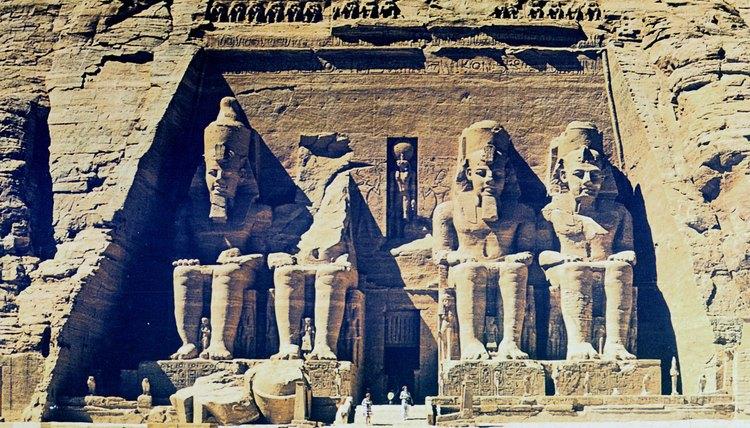 Statues of the Pharaoh Ramses II at Abu Simel, Egypt.
