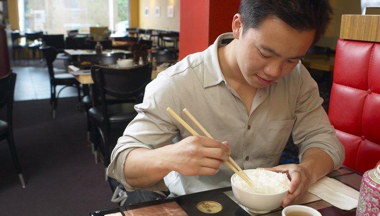 Man in Chinese restaurant