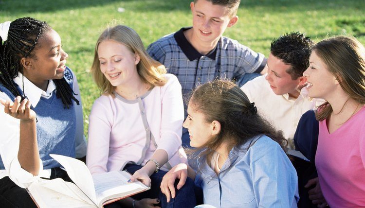 Talk to your friends about important subjects such as feelings and beliefs.