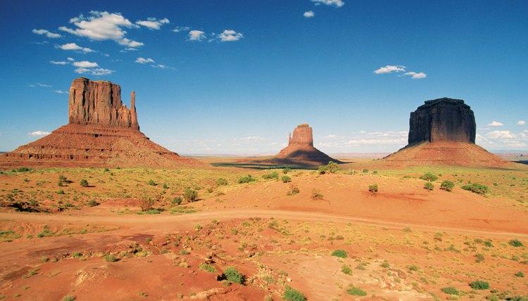 Panoramic view of Monument Valley Navajo Tribal Park in Arizona, USA
