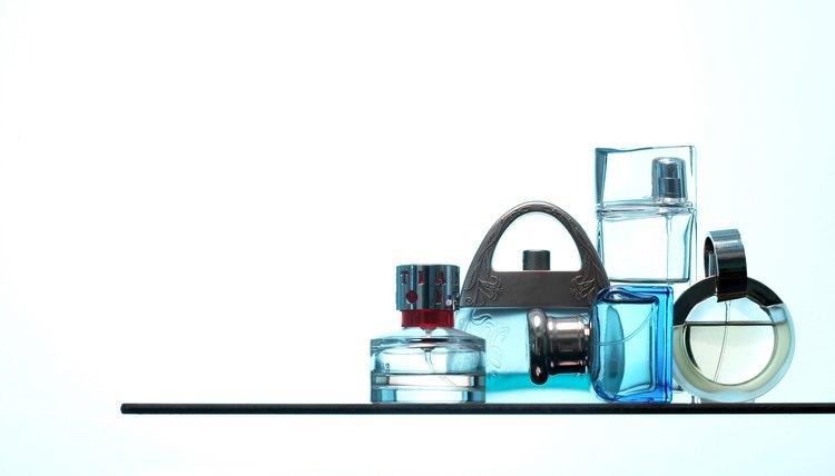 Rich looking perfume bottles.