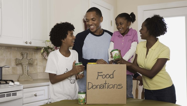 Collecting donated items from church members is a good way to start a food pantry.