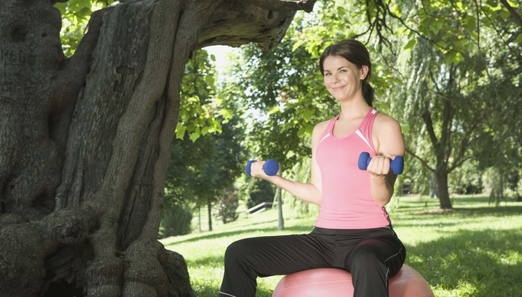 Ball Exercises While Sitting